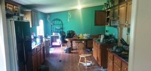 Water Damage And Fire Damage Restoration Of Kitchen