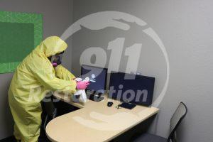 911 Restoration Desk Cleaning